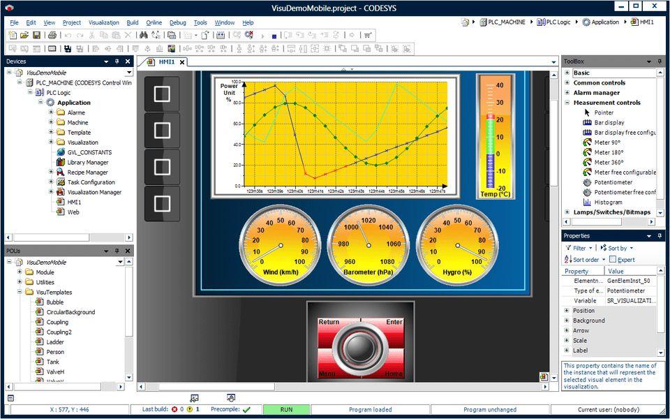 CODESYS Visualization: HMI in the IEC 61131-3 System