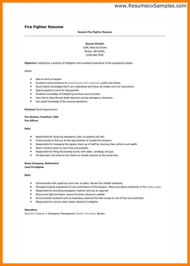7 firefighter resume examples grocery clerk