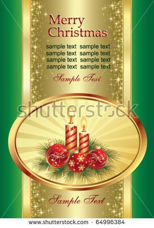 Template Vector Greeting Card Silver Crescent Stock Vector ...