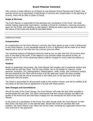 32 Sample Contract Templates in Microsoft Word