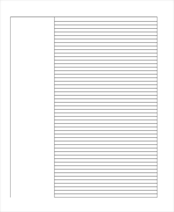 26+ Sample Lined Paper Templates | Free & Premium Templates