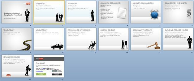 Free Employee Handbook Template for PowerPoint - Free PowerPoint ...