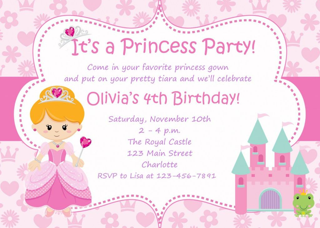 Party Invitations: Unique Princess Party Invitations Ideas ...