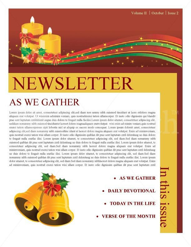 Christmas Newsletter Template | Newsletter Templates