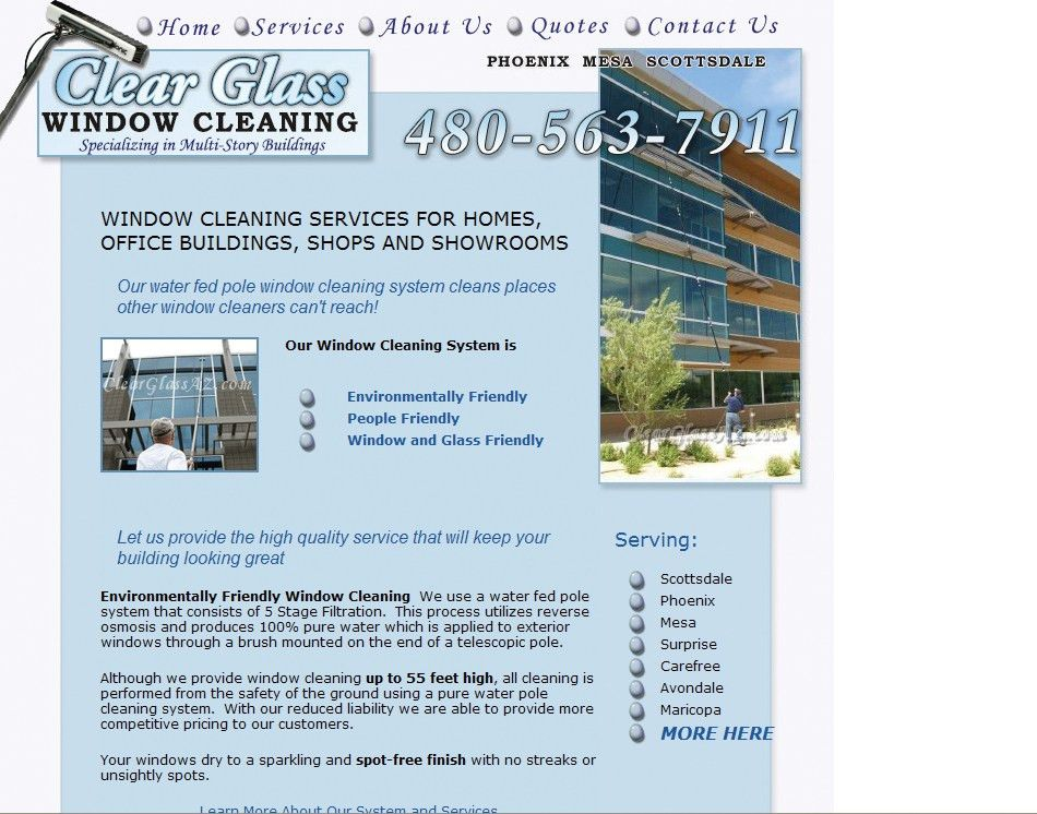 Design Portfolio- Cleaning Company Website Designing
