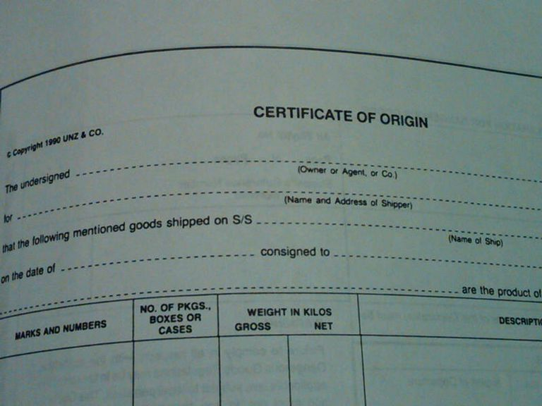 Learn About Country of Origin Certificates