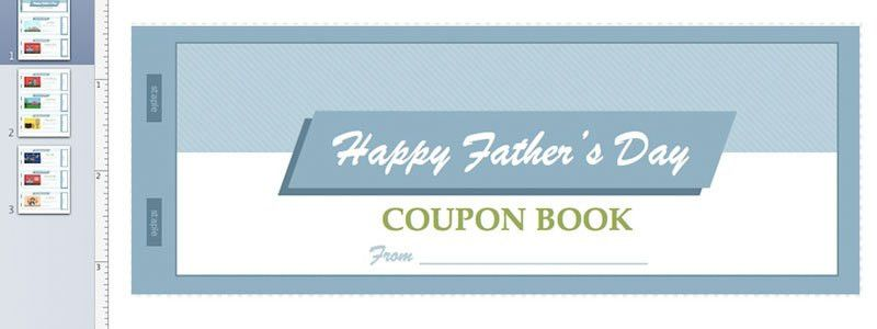 Father's Day Coupon Book for Apple Pages from MacTemplates.com