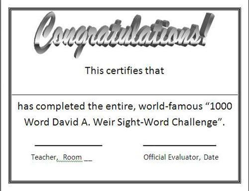1000 Word Challenge---Sight Words / Fry's Sight Words
