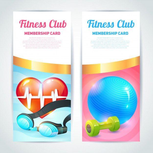 Fitness club card design Vector | Premium Download