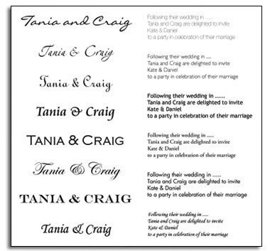 Wedding Invitation Fonts For Microsoft Word | PaperInvite