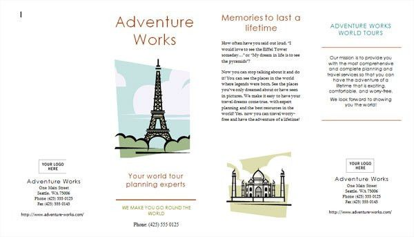 printable travel brochure | Professional Templates