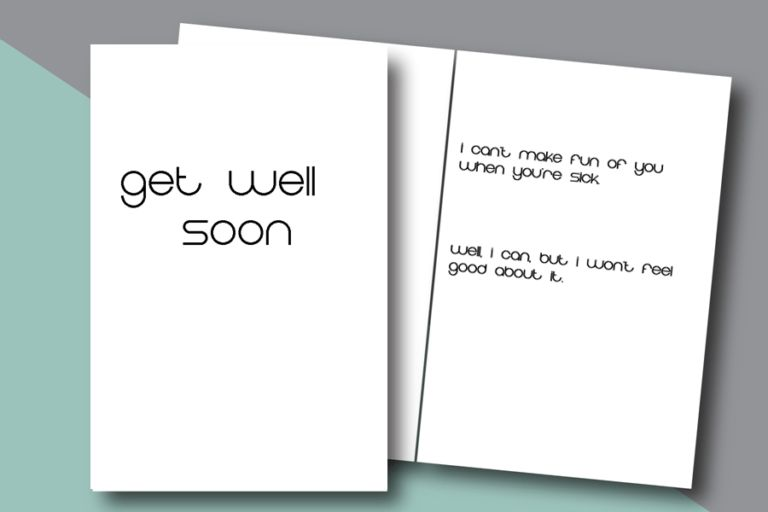 Get Well Soon - Free Printable Cards - Stay at Home Farter