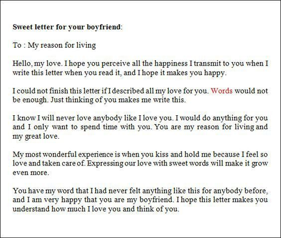 Love-Letter-to-your-Boyfriend | gifts idea | Pinterest | Boyfriends