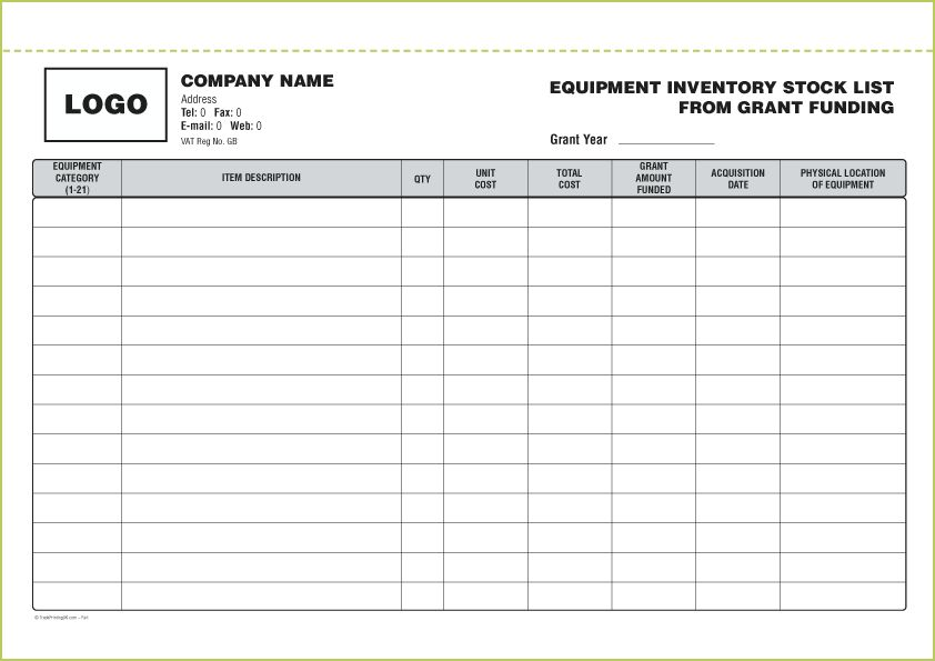STOCK INVENTORY BOOKS from £85 | FREE Inventory Book Template ...