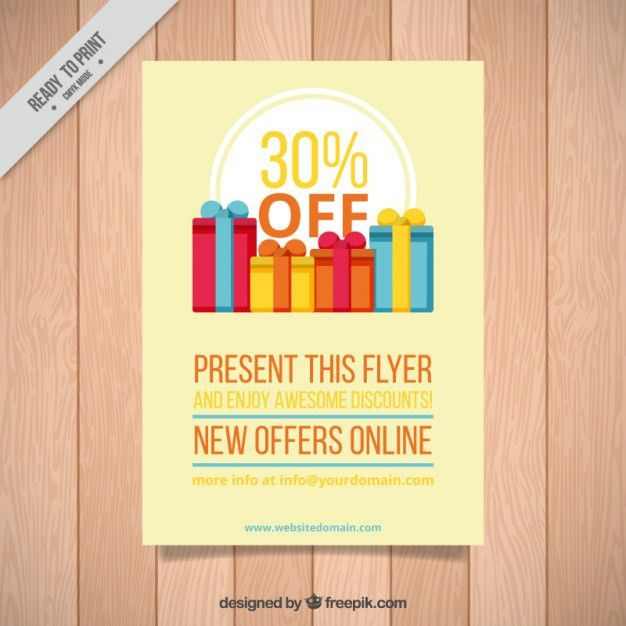 Sales flyer with gifts Vector | Free Download