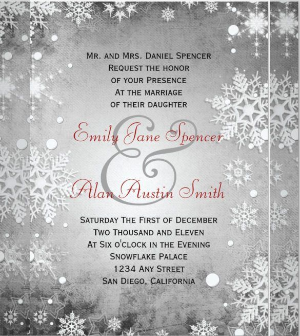 15+ Winter Wedding Invitation Templates – Free Sample, Example ...