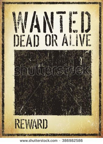 Wanted Vintage Western Poster Aged Vector Stock Vector 386982586 ...