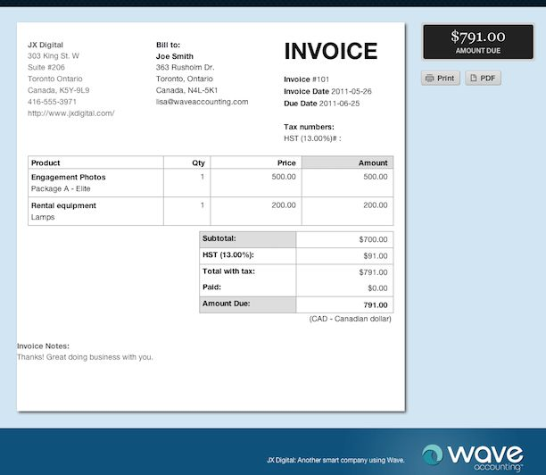 The basics: How to create an invoice for your photography business