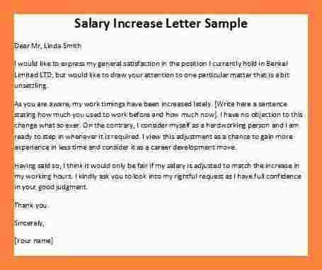 How To Write Salary Increment Letter | Resumesample.csat.co