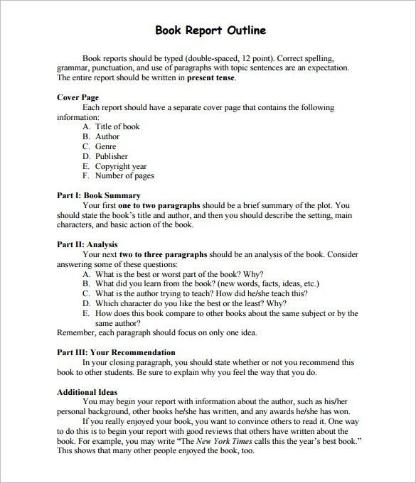 Report Outline Template – 10+ Free Free Word, PDF Format Download ...