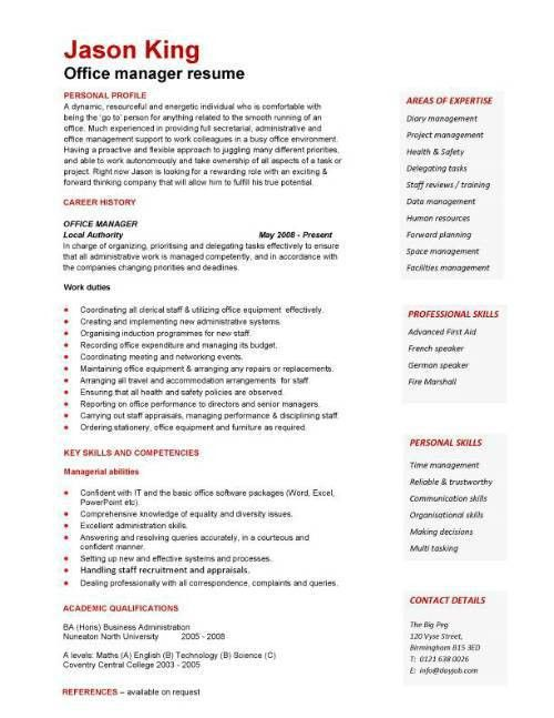 image result for administrative management skills resume. updated ...