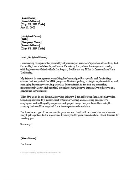 Business Consultant Cover Letter Example icover uk in Consulting ...