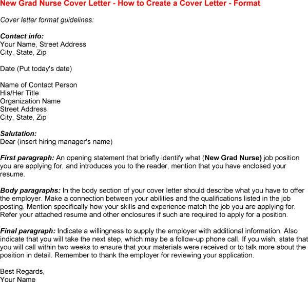 sample cover letter for new grad rn job nursing cover letter ...
