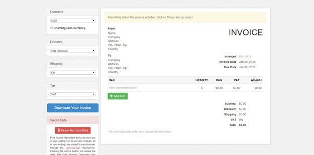 15 Free & Extremely Useful Invoice Generators | Code Geekz