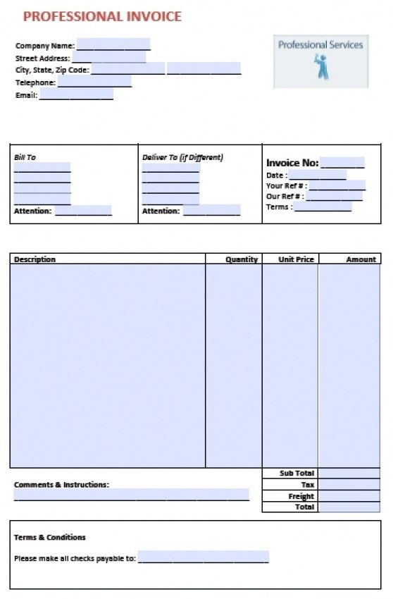 Download Professional Services Invoice Template | rabitah.net