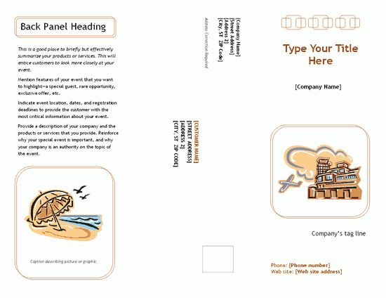 Free Pamphlet Templates – Microsoft Word Templates