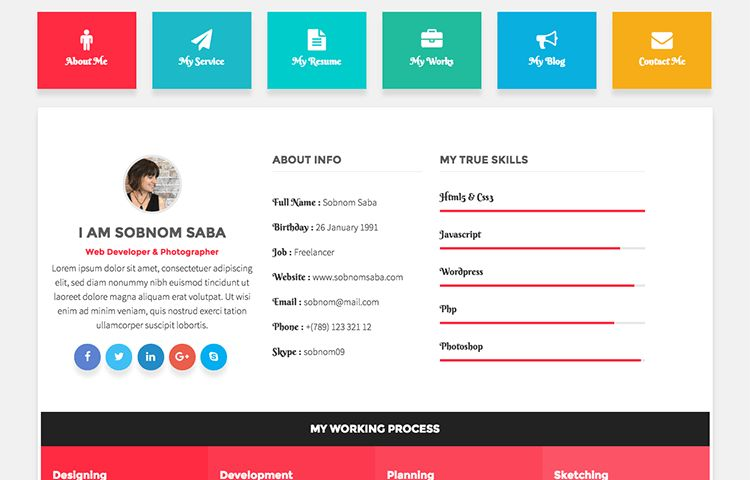 20+ Best CV/Resume, and Personal HTML Bootstrap Templates & Themes