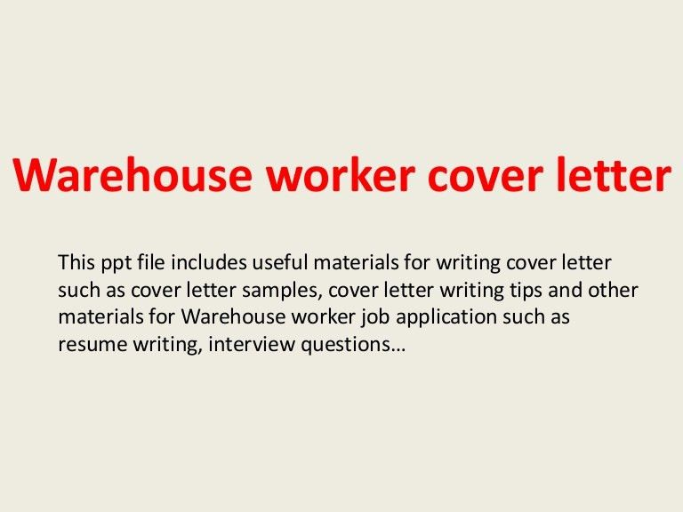 Warehouse Cover Letter 3 Assistant - uxhandy.com