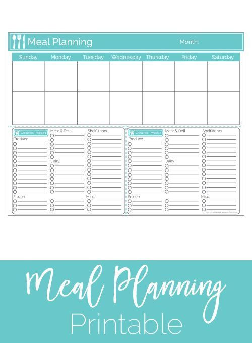 Best 25+ Meal planner template ideas on Pinterest | Meal planning ...