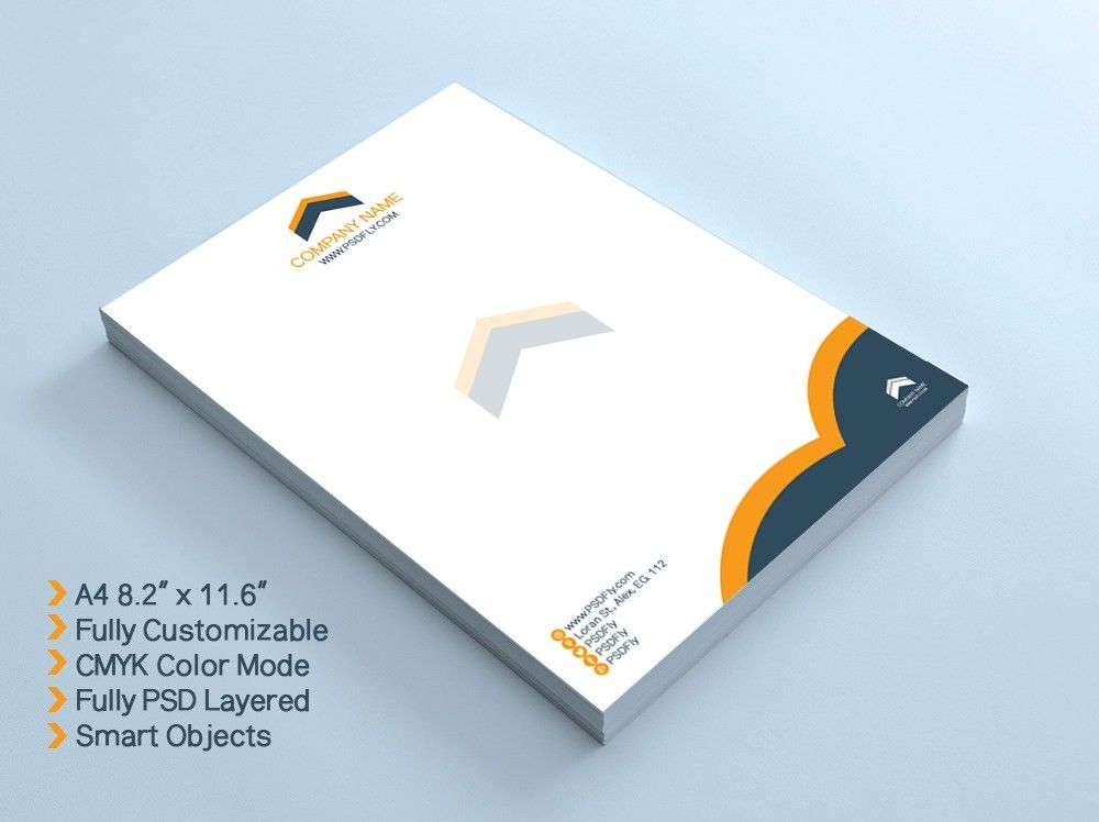 15 Free Vector PSD Company Letter Head Design Template | Free ...