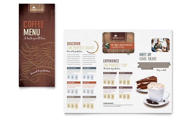 Coffee Shop Menu Template - Word & Publisher