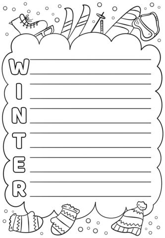 Winter Acrostic Poem Template | Free Printable Papercraft Templates