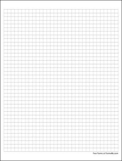 Free Graph Paper (4 Squares per Inch Dashed Black) from Formville