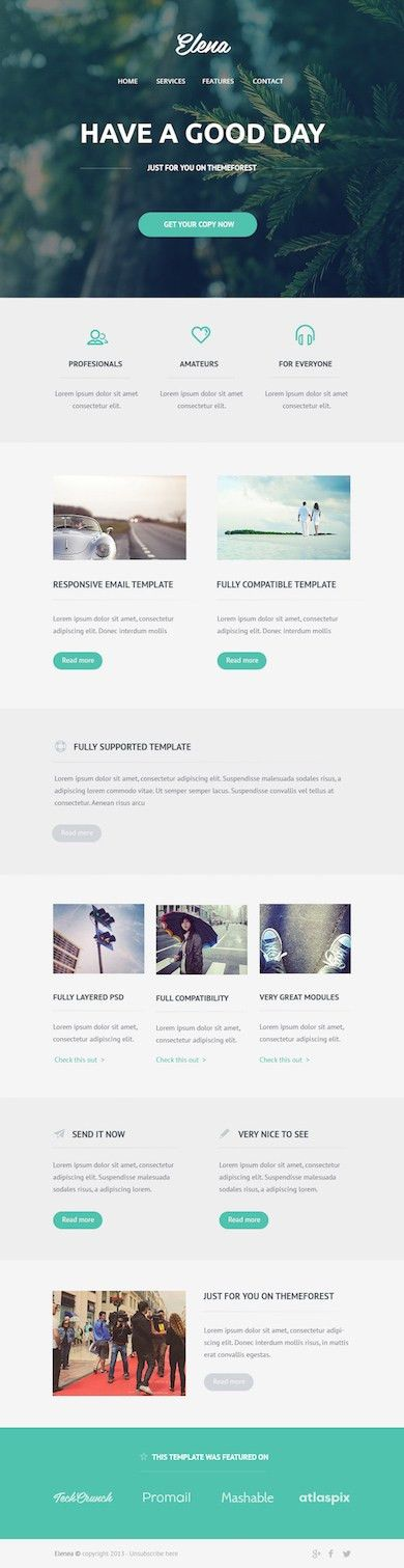 Latest Free Email Newsletter PSD Templates – Neo Design
