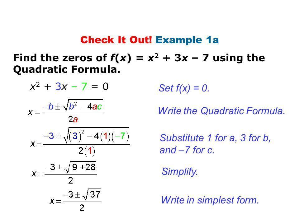 Quadratic formula. - ppt video online download