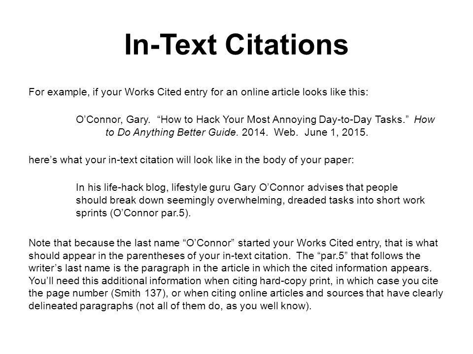 MLA Citation and Documentation Style Quick Tips - ppt download