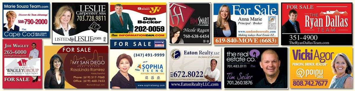 Real Estate Signs, Open House Signs, For Sale Signs by Dee Sign®