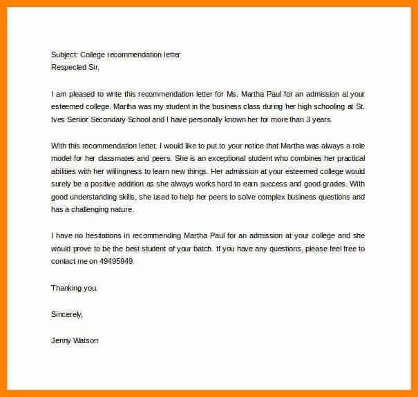 Business Recommendation Letter. Business Reference Letter For ...