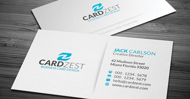 Free Business Card Templates » Cardzest