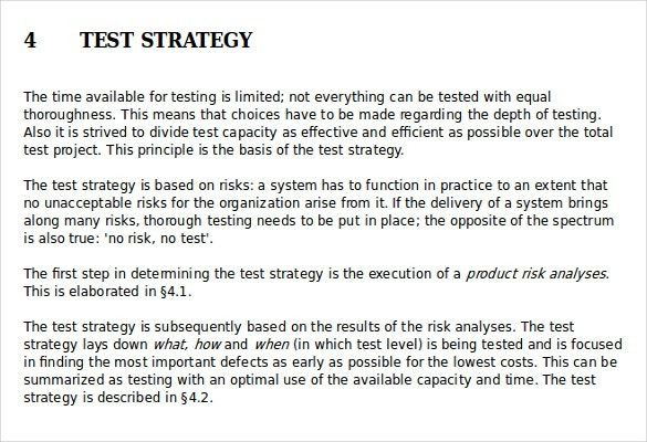 Test Strategy Template – 11+ Word, PDF, PPT Documents Download ...