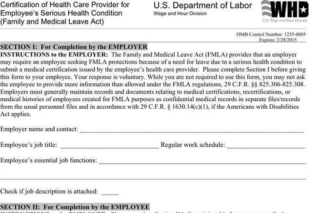 Medical Leave Form. Medical Leave Application Form And Medical ...