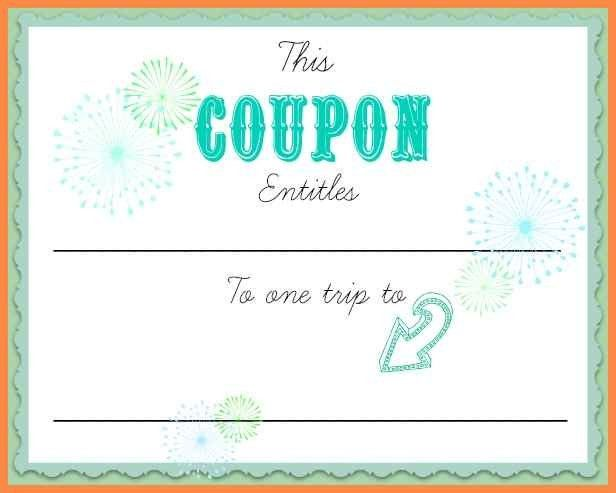100+ Make Your Own Vouchers Template | Printable Coupons Tickets ...