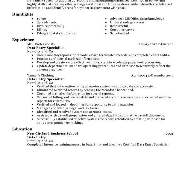 Extraordinary Data Entry Resume 7 Unforgettable Data Entry Resume ...