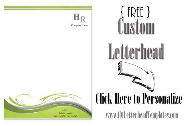 Free Company Letterhead Template