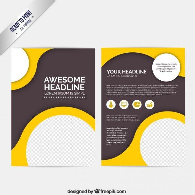 Folheto abstrato com círculos | Brochures, Leaflet design and ...