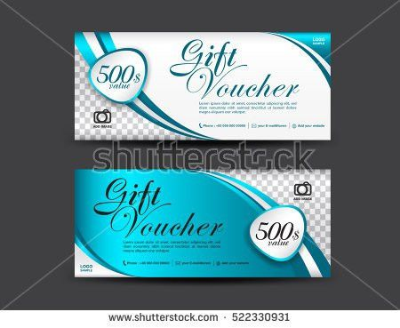 Cute Gift Voucher Certificate Coupon Design Stock Vector 289184267 ...